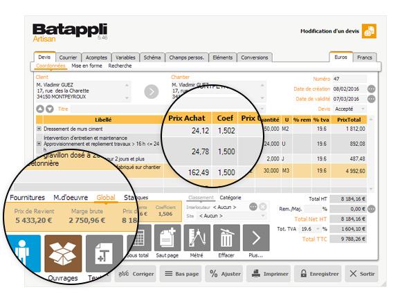 Determiner Le Coefficient De Prix De Vente Batappli