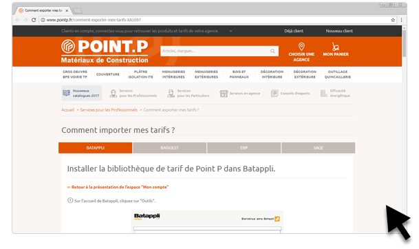site point p tutoriel en ligne installation tarif