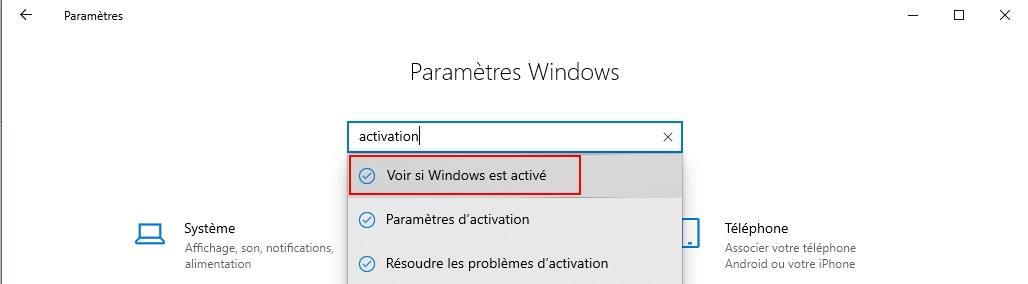 activation windows version professionnel