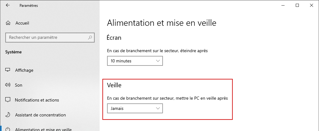 ordinateur windows configuration teletravail